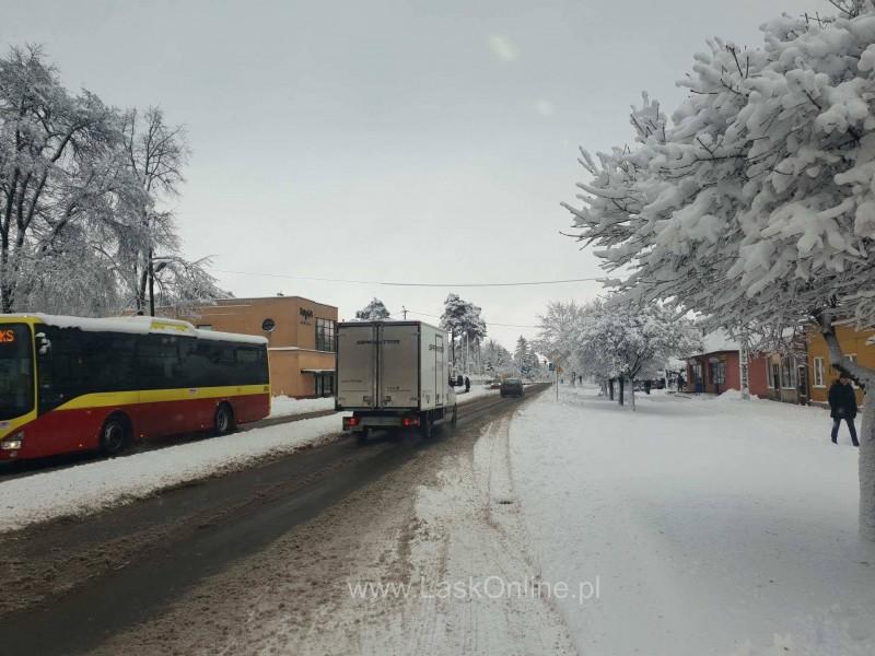 Śnieżyca w Łasku