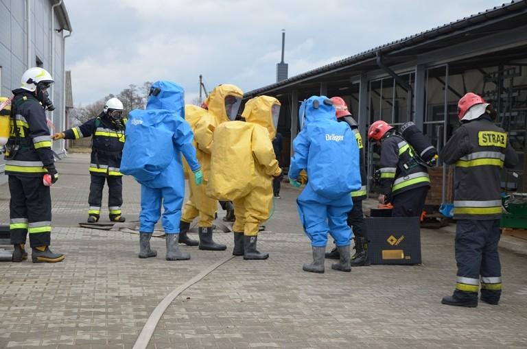 Wspólne ćwiczenia pożarnicze