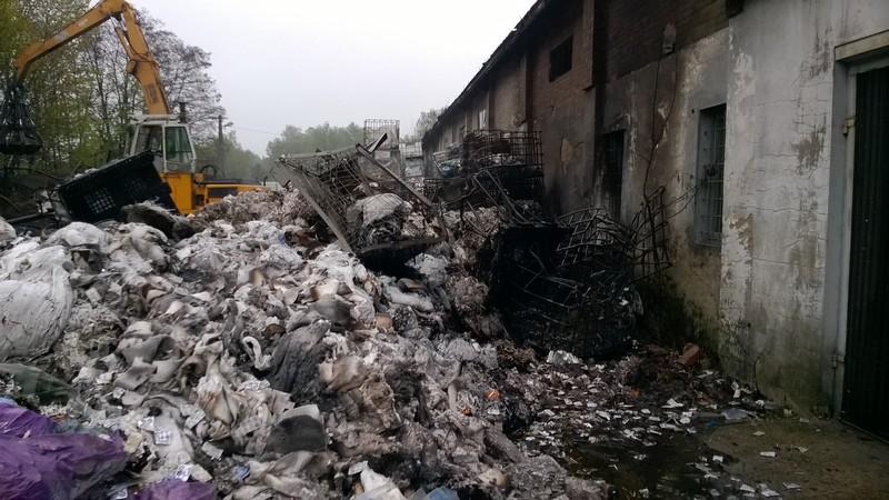 Pożar składowisko odpadów Gorczyn