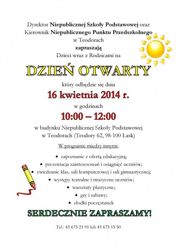 Zaproszenie Na Dzień Otwarty W Teodorach łaskonlinepl Codzienna