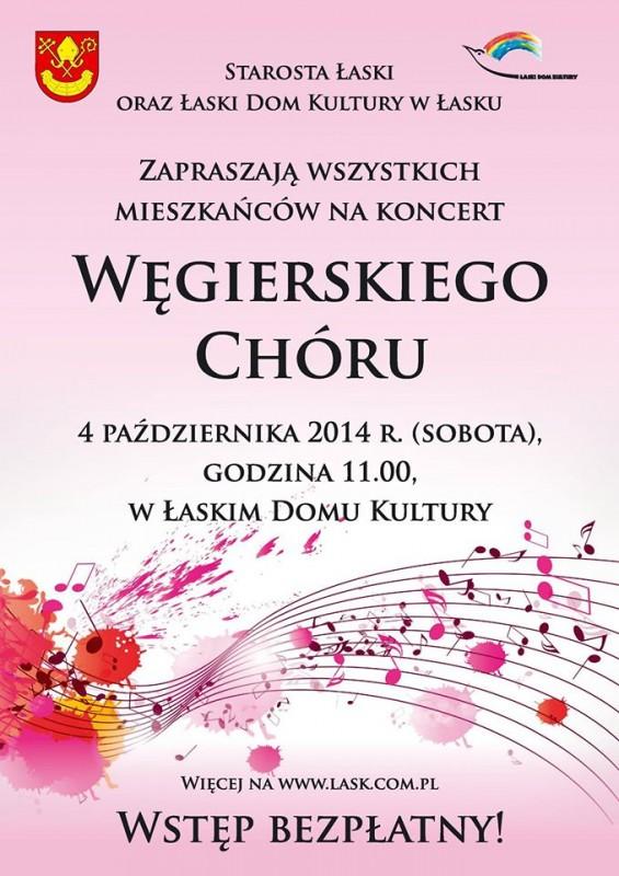 Zaproszenie Na Koncert Węgierskiego Chóru łaskonlinepl